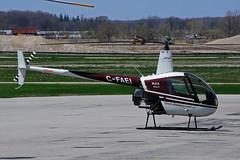 C-FAEI Great Lakes Helicopter) (Steelhead 2010) Tags: helicopter robinson r22 ykf creg greatlakeshelicopter cfaei