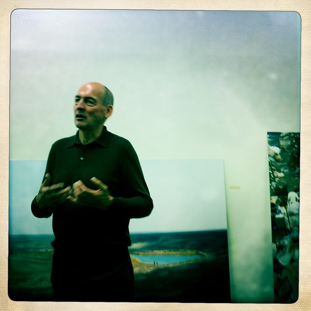 "Rem Koolhaas speaking at preview for ""Cronocaos"" at New Museum"