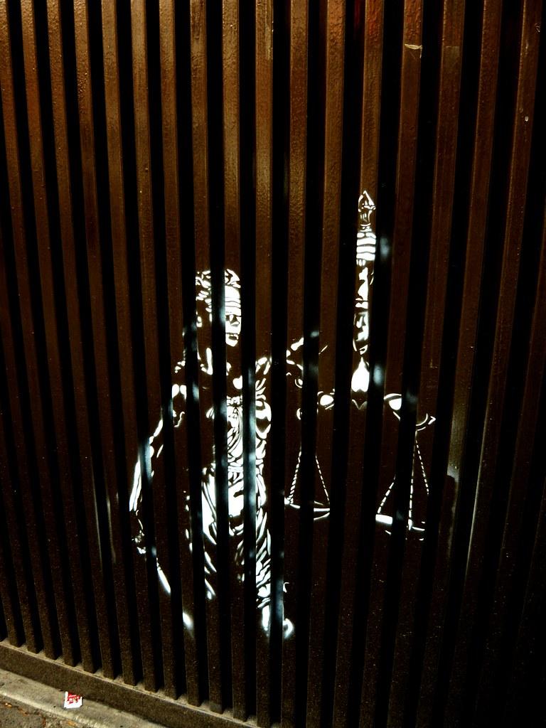 Justicia ch_stencil tags mexicana mexico stencil justicia estencil arteurbano traslasrejas chhhh