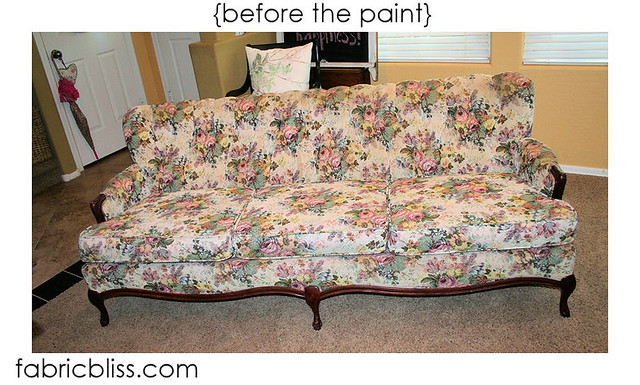 I Love Me Some Fabric Do This I Painted A Couch Last
