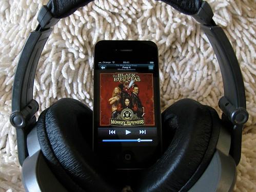 iPhone With Headphones