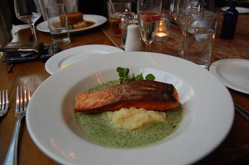 Salmon + lemon mash@The larder