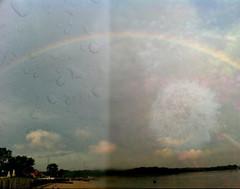 Lucky Things [20:52] (Stephanie~Nichole) Tags: color beach rain outside book rainbow pretty overlay things dandelion lucky wish