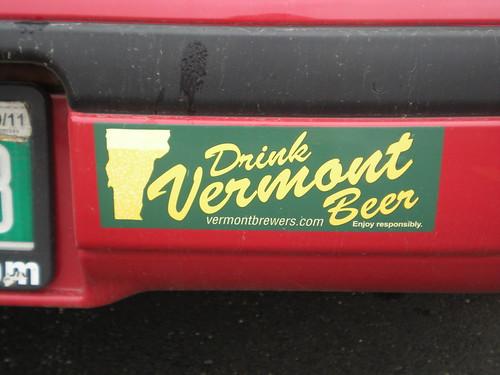Vermont beer bumper sticker