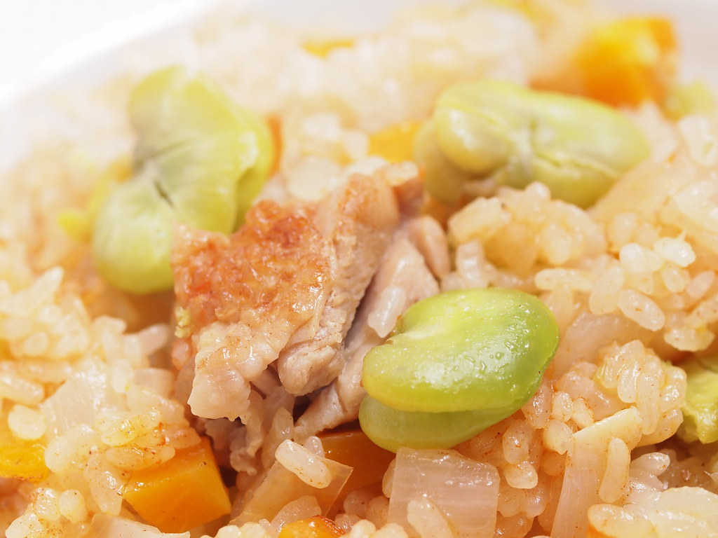 Fava bean & chicken pilaf 02