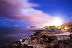 [フリー画像] 人物, 人と風景, 海, 海岸, アメリカ合衆国, ハワイ州, 201106071300