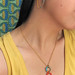 Sunlight Macrame Earrings and 3-hoop Macrame Necklace