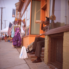 (patrickjoust) Tags: street city urban usa man color 120 6x6 tlr film analog rolleiflex zeiss america square lens evening us reflex md focus afternoon fuji mechanical united north patrick twin maryland slide baltimore v late epson medium format states manual 500 expired 80 joust fujichrome e6 f28 hampden hon 220 planar emulsion estados astia 80mm 100f theavenue reversal unidos 36th honfest 28f franke v500 autaut heidecke patrickjoust