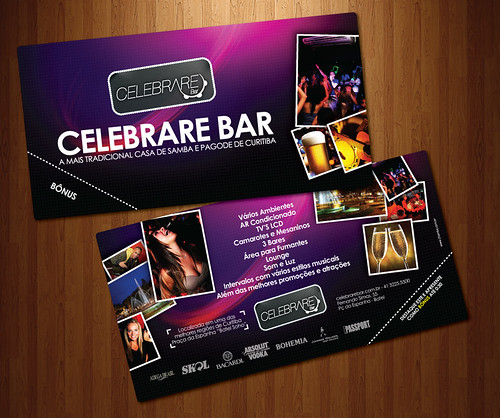 Flyer - Celebrare Bar by chambe.com.br