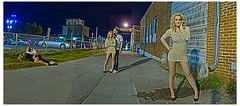 """Kate   """"Any press is good press."""" (Avaviel) Tags: people panorama kate many hdr"""