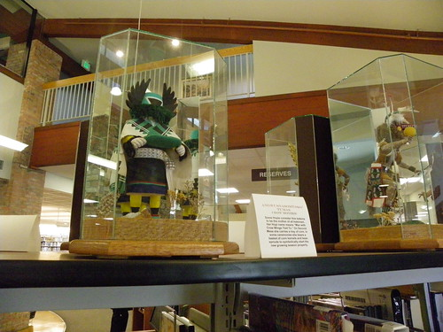 Kachina dolls at Prescott Public Library