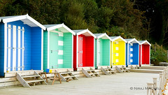 Beach Huts (TimeTraveller37) Tags: beach huts beachhuts colwellbay colwell isleofwight colour colours colors seaside sea canon canon7d holiday beachfront perspective lines nautical