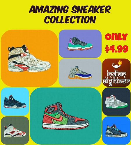 Amazing #sneaker collection, just listed on #etsy for just $4.99 - a total of 8 beautiful shoes for #embroidery. http://ift.tt/2cHk194 #sneakers #shoes #collection #footlocker #nike #jordans #air #machineembroiderydesigns @ez_stitcher