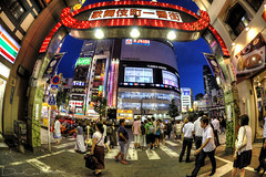 Kabukicho (The Devil in the Detail) Tags: road street blue detail japan modern night photoshop canon lights tokyo design shinjuku asia neon raw kabukicho 15mm hdr photomatix tonemapped enhancer 5dmarkii