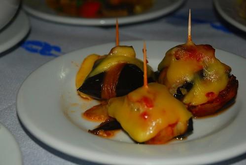 mushrooms, cheese, peppers