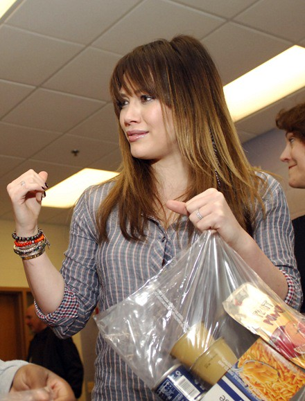 "#7029105 Hilary Duff visits Edward Jenner Elementary Academy of the Arts in Chicago, IL on March 23, 2011 to promote ""Blessings in a Backpack"" a program geared to help feed nutritious meals and ready to eat snacks to hungry kids around the country.. Fame"