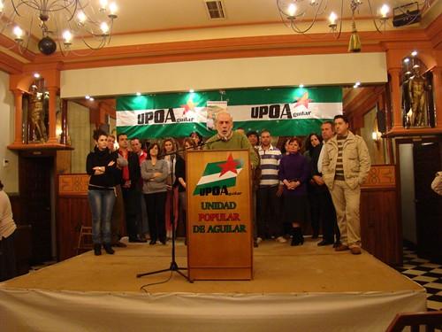 Presentada la candidatura de UPOA en Aguilar de la Frontera 5555992588_9247df457f