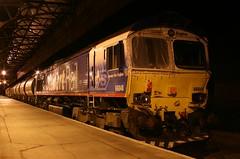 """DB Schenker """"Stobart""""  66048 (60044) Tags: shed 66 class perth eddie carrbridge derailment stobart 66048"""