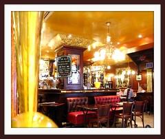 Paris Interior Design (Jen's Stream) Tags: red paris men leather bar gold restaurant hotel mirror design champagne luxury interiordesign visualart champselysee aperitif anawesomeshot parisinteriordesign