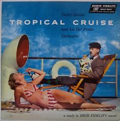 Tropical Cruise  — Pedro Garcia and His Del Prado Orchestra (johnpurlia) Tags: vacation holiday sunglasses vintage stripes vinyl cheesecake bikini cruiseship record albumcover sunbathing pedrogarcia tropicalcruise delpradoorchestra