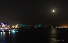 While in Istanbul moonlight (Fatih YILDIZ) Tags: night istanbul moonlight gece mehtap dolunay bosphorusbridge boazkprs