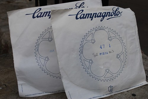 Campagnolo pista chainrings NOS by kievfix