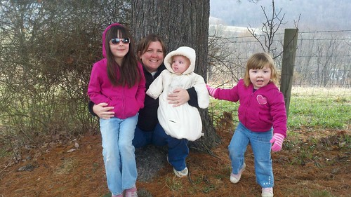 Me and my girls out geocaching