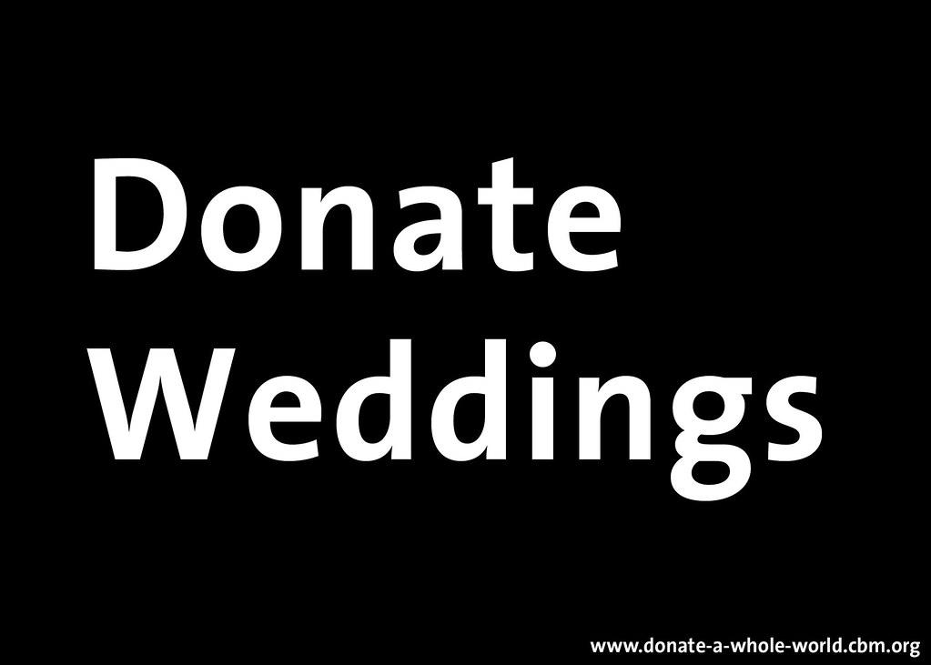 donate weddings