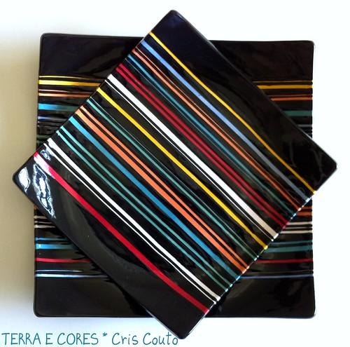 Pratos Listas Coloridas by cris couto 73