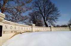NIU Campus in the Winter