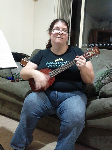 Misty and her electric uke