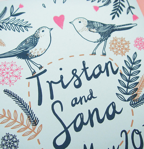 Tristan and Sana Invitation
