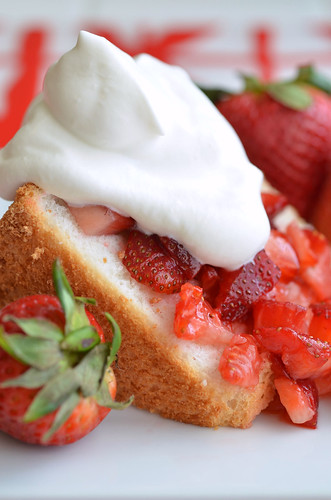 Strawberry Glazed Angel Food Cake