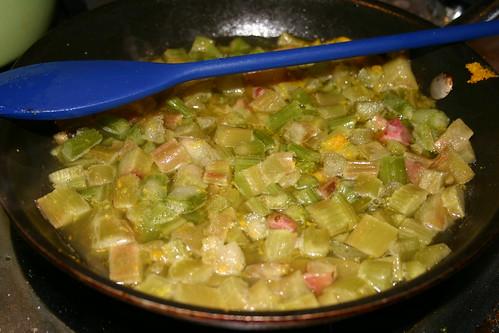 Rhubarb Sauce In progress
