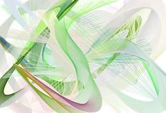 Composizione astratta con linee in movimento