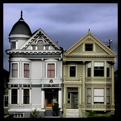 So San Francisco (swampzoid) Tags: wood city houses urban house architecture victorian structures twin row structure frame ornate attached lavish