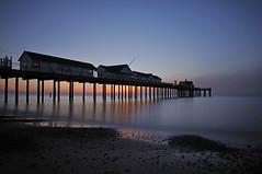 Sunrise Southwold -April 2011 (Tel.Photo) Tags: sea sky sun beach sunrise pier suffolk sand nikon southwold d90 1685