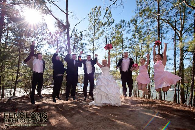 Jumping for Joy!! | Jennifer & Derek's Red Top Mountain Wedding, Cartersville, Georgia [Atlanta Wedding Photographer]
