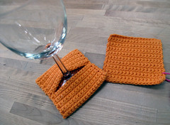 Single Crochet Coaster and Wine Coaster Set