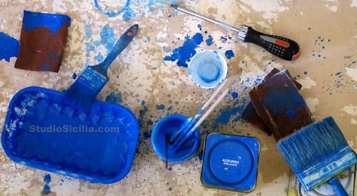 Blue Brushes