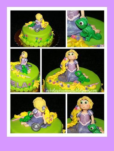 Detalhes Bolo Rapunzel Entrelaçados by Osbolosdasmanas