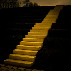 Rehab (Gilderic Photography) Tags: city sky museum stairs canon dark eos europe raw darkness ciel step luxembourg escalier marche disease rehab kirchberg lightroom 500d gilderic revalidation