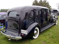 1937 Packard 120 Miller Art-Carved Hearse (splattergraphics) Tags: 120 hearse carshow packard 1937 artcarved millersvillemd ajmiller gerstfarm streetsurvivorsofmd