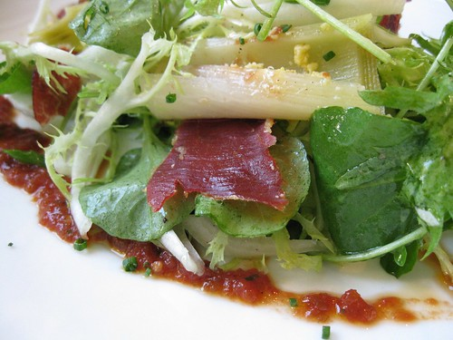 TFL Leek Salad with Jamon Iberico