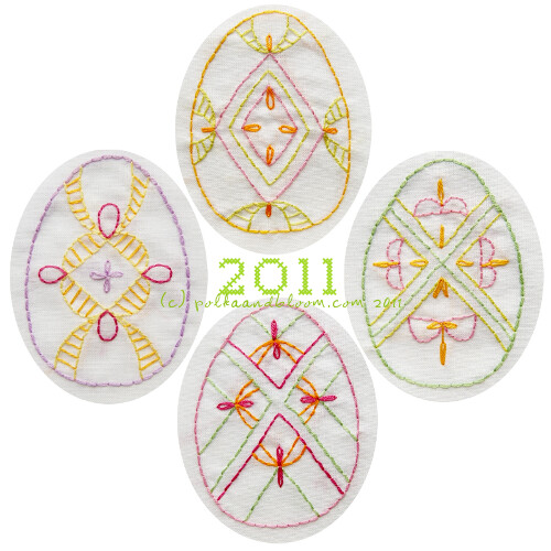 2011 Easter Eggs embroidery pattern