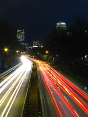 Drive (historygradguy (jobhunting)) Tags: road street cars boston night ma traffic massachusetts newengland lighttrails mass storrowdrive lightstream universalhub bostonit