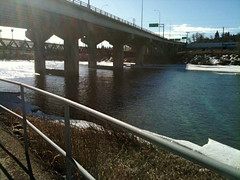 Cyclist/pedestrian pathway across Bow River Photo