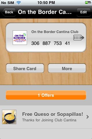 OTB card info