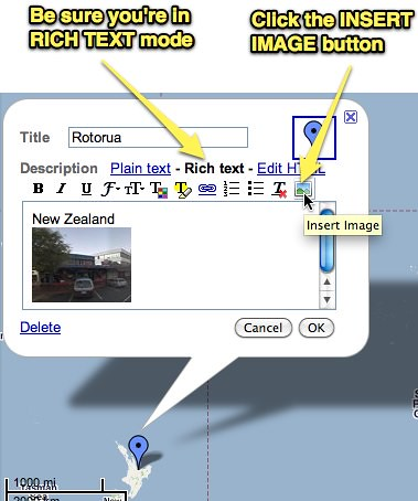 Tips for adding an image to a custom Google Map