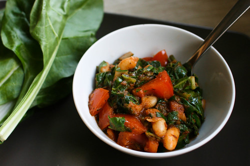 White beans and chard